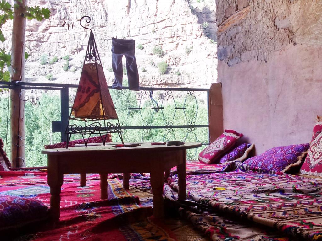 Terraza y vistas Gite Ifoulou Tassaout